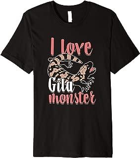 Herpetology I Love Gila Monster Reptile Lover Lizard Owner Premium T-Shirt