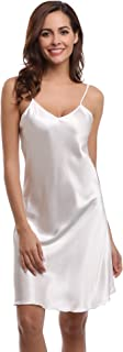 white satin night shirt
