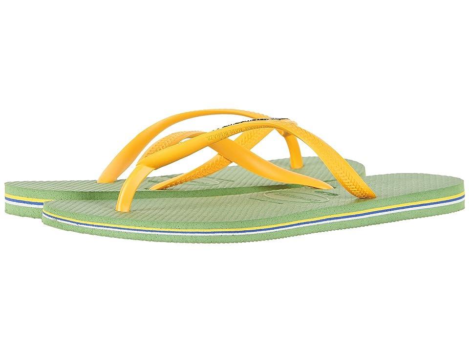 Havaianas Slim Brazil Flip-Flops (Green) Women