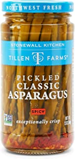 Tillen Farms Veggies, Pickled Crispy Asparagus, Hot and Spicy, 12 Ounce (Pack of 4)
