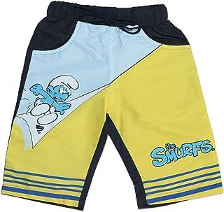 Ls Çocuk Smurfs Şirinler Desenli Çocuk Siyah-Sarı-Mavi Şort