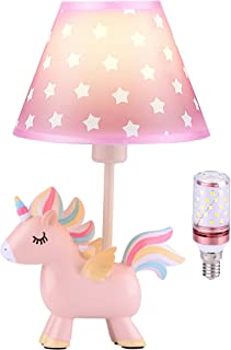 Lampe de Licorne, Lampe de Table de Chevet pour Enfants avec Abat-jour LED, Cadeaux de Licorne pour Décoration de Chambre ...