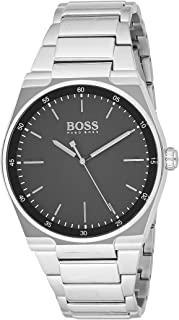 Hugo Bossadultanalogue Classic Quartz Watch With Stainless Steel Strap 1513568, Silver Band, For Unisex