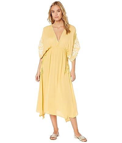 Rip Curl Sweet Escape Midi Dress (Retro Yellow) Women