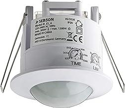 SEBSON® Bewegingsmelder Inbouw Binnen, LED geschikt, Detectiebereik 6m/ 360°, Plafondmontage, regelbare Infrarood Sensor