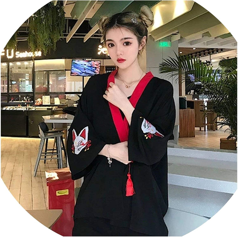 SAKURAII DUN Arrival Harajuku Japanese Women Shirts SunProof Clothing Embroidery Tassels Cardigan Vintage Blouse Femme