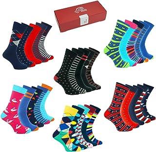 TWO LEFT SOCKS, Calcetines Divertidos Estampados Coloridos 5 pares Caja de Regalo Hombres Mujeres Niños