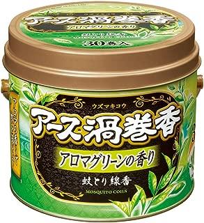 アース製薬 アース渦巻香アロマグリーンの香り缶入30巻