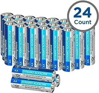 Westinghouse Alkaline AA Batteries, Double A Batteries, Long-Lasting Leak Proof Primary Batteries, Bulk Pack 24 Count (AA, 24 Pack)