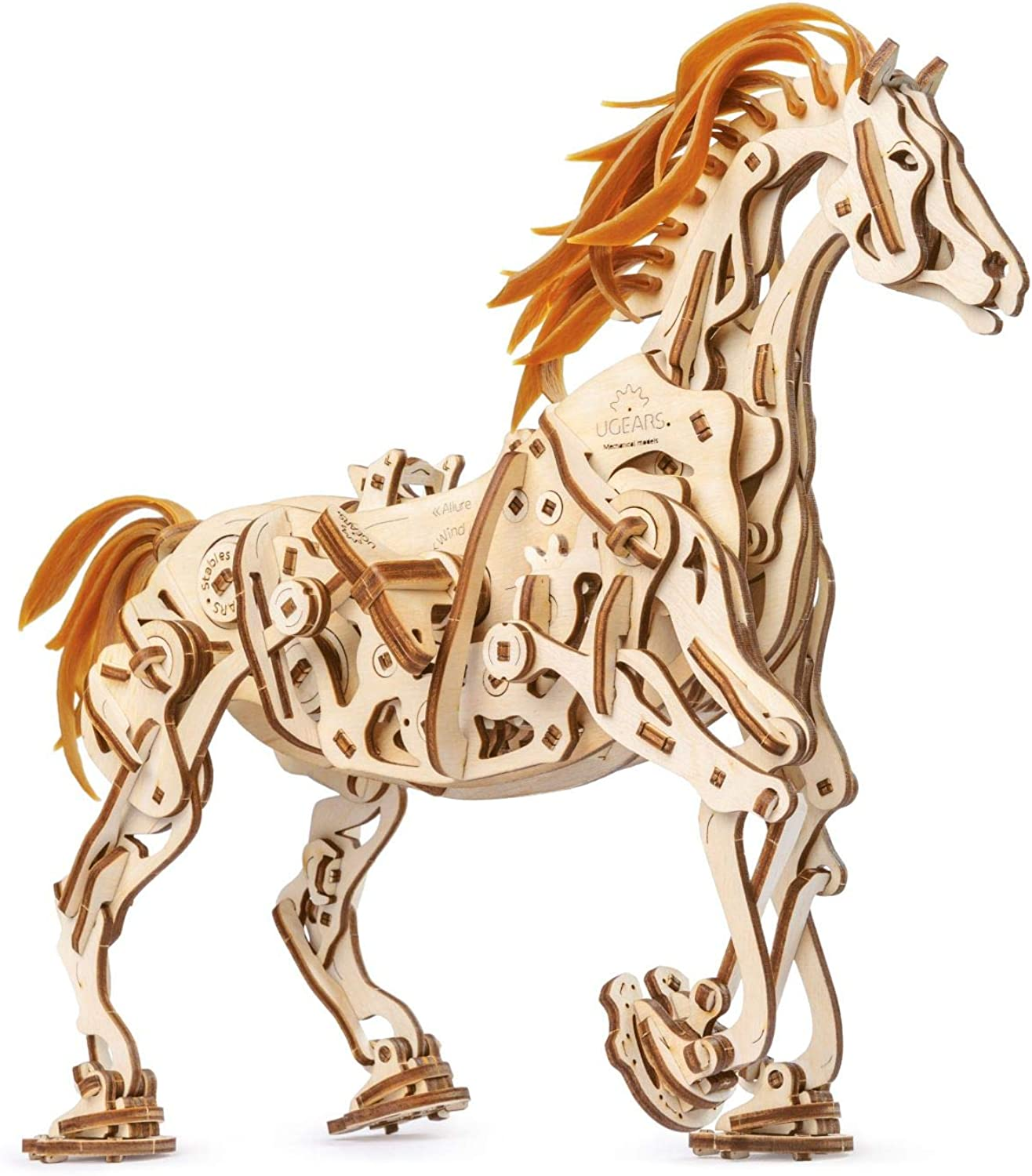 UGears 70054 Wooden Horse Puzzle, Model Building Set, Brain Game, DIY Puzzle, Educational Toy, Environmentally Friendly