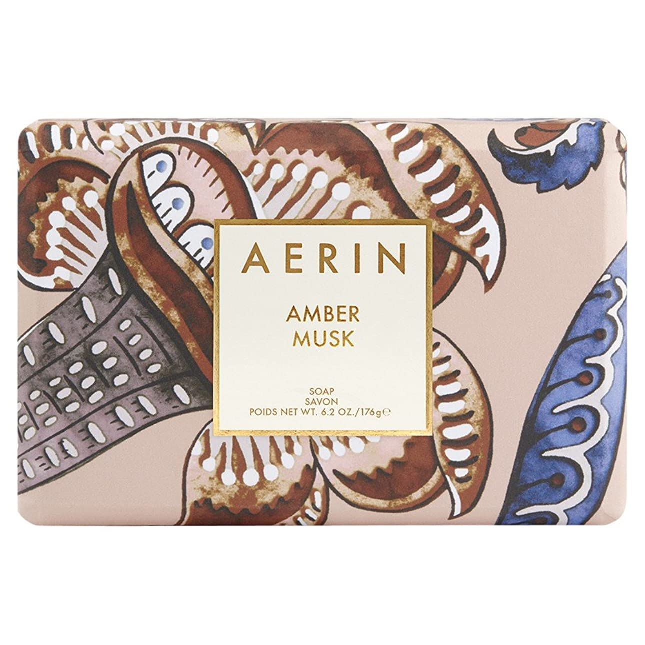さらに作り上げる開梱Aerinアンバームスクソープ176グラム (AERIN) (x2) - AERIN Amber Musk Soap 176g (Pack of 2) [並行輸入品]