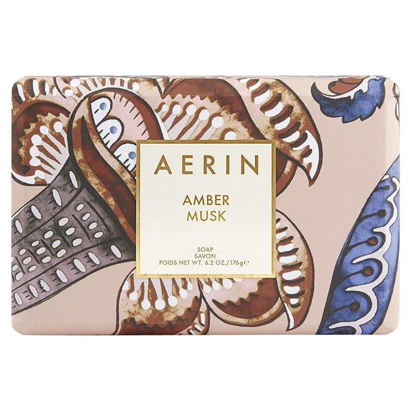 メタルラインとげのあるマーキングAerinアンバームスクソープ176グラム (AERIN) (x6) - AERIN Amber Musk Soap 176g (Pack of 6) [並行輸入品]