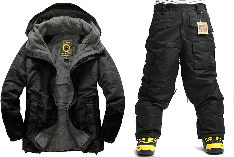 Southplay Mens Waterproof Ski-Snowboard Digital Military Jacket+Pants set