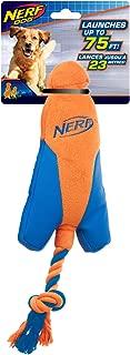 Nerf Dog Medium UltraPlush Trackshot Arrowhead Launcher Dog Toy, Orange/Blue