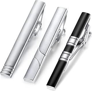 3pcs Set Honey Bear Mens Tie clip Bar- for Normal Size Tie, Business Wedding Gift (5.4cm,silver,black)