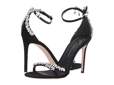 Giuseppe Zanotti Lynette Rhinestone Heel Sandal (Kanda Nero) Women