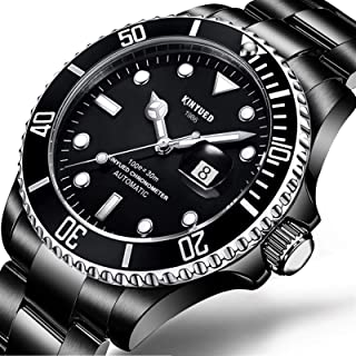New Water Ghost Series Classic Black Dial Luxury Men Automatic Watches Stainless Steel Waterproof Mechanical Watch