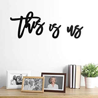 Zonon 3 Pieces This is Us Sign, Wooden This is Us Wall Decor, Rustic Wood Cutout Farmhouse Decor for Bedroom, Living Room,...