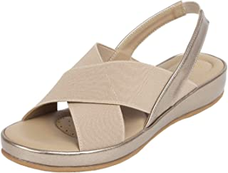 Catwalk Women's Gold Flat Slip Fashion Espadrille