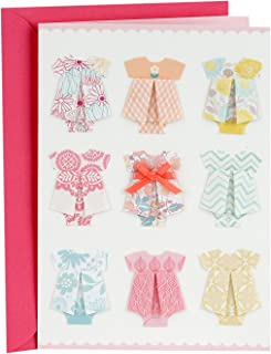 Hallmark Signature New Baby Congratulations Greeting Card (Baby Clothes)