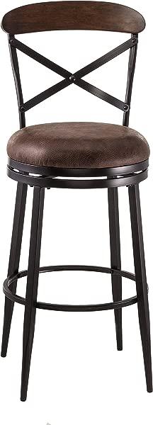 希尔斯代尔家具 5700 828 亨德森旋转柜台凳子高度黑色棕色