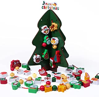 Wooden Baby Toy Christmas Tree, 1ft Christmas...