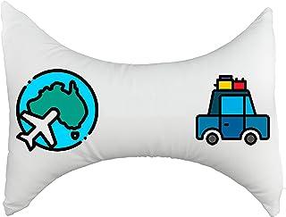 OrtoPrime Almohada Cervical de Viaje Mariposa - Cojín Reposacabezas Viaje - Almohadas Cervicales de Descanso - Cojín Cervical de Viaje - Funda lavable Extraíble
