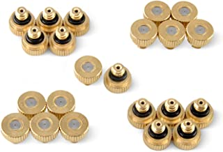 """Aootech Brass Misting Nozzles for Outdoor Cooling System 22 pcs,0.012"""" Orifice (0.3 mm) 10/24 UNC"""