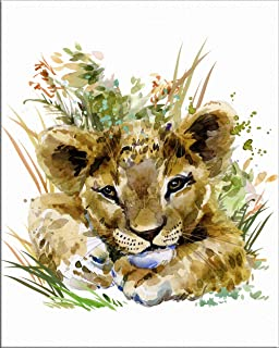 Best baby lion watercolor Reviews