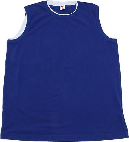 Bikkembergs 4962N Canotta hommes bleu t-Shirt Man Sleeveless