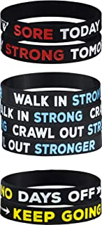 AMPM Collective | Silicone Motivational Wristbands | Rubber Inspirational Quote Bracelets | Unisex for Men Women Teens | for Daily Gym Workout Perseverance and Exercise Motivation (6/12/24)