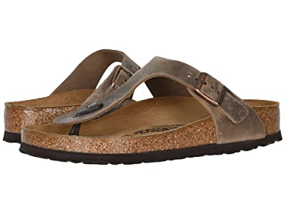 Birkenstock Gizeh Oiled Leather (Tobacco Oiled Leather) Women