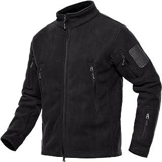 ChangNanJun Men's Full Zip Stand Collar Tactical Fleece Jacket