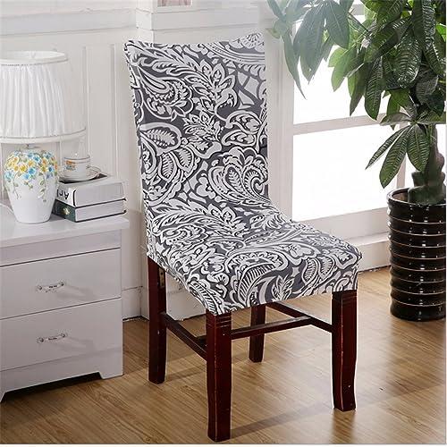 KING DO WAY 4 Pcs Housse De Chaise Couverture De Chaise Haute Décoration Salle À Manger Bureau Hôtel Partie Chair Cover Gris