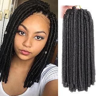 14 Inch 3Pcs Soft Dread Lock Hair Twist Braids Crochet Hair 30 Strands Synthetic Braiding hair Extensions High Temperature Fiber 1B