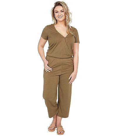 tentree Blakely Short Sleeve Knit Jumpsuit (Olive Night Green) Women