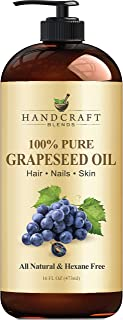 Handcraft Grapeseed Oil - 100% Pure and Natural - Premium Therapeutic Grade Carrier Oil for Aromatherapy, Massage, Moistur...