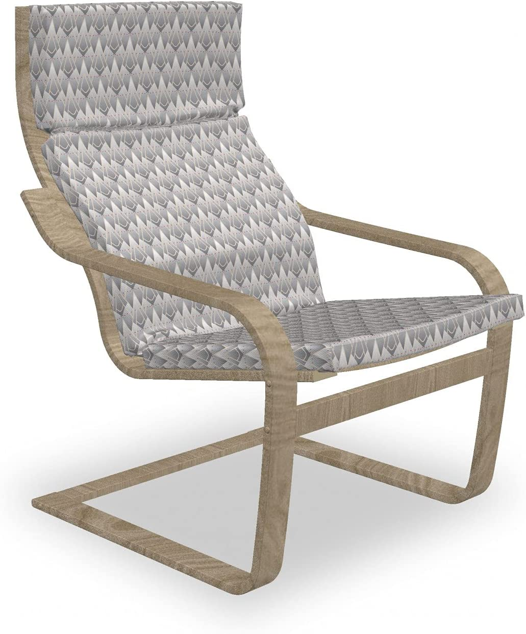 Ambesonne Geometric Armchair Pad and Horiz Dot Great interest Slipcover Max 83% OFF Dashed