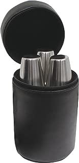 Maxam 7 Piece Flask Set, Includes: 3-6 Ounce Flasks, 3 - Shot Glasses, and Convenient Travel Case