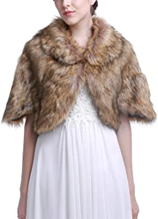 Best brown fur cape Reviews
