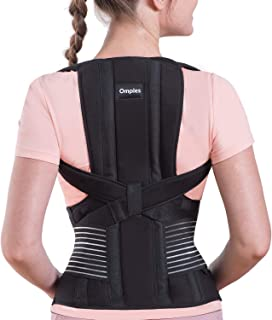 Omples Posture Corrector for Women and Men Back Brace Straightener Shoulder Upright Support Trainer for Body Correction and Neck Pain Relief, Large