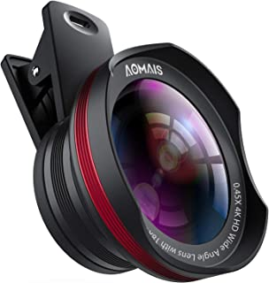 Phone Camera Lens, AOMAIS Pro Camera Lens Kit Compatible with iPhone/Samsung/Google Pixel etc, Macro and Wide Angle Lens w...