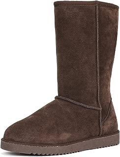 Women's Mid Calf Sheepskin Insole Winter Snow Boots