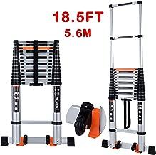 Telescoping Ladder Extension Multi-Purpose 18.5 FT Aluminum Foldable Industrial Compact..