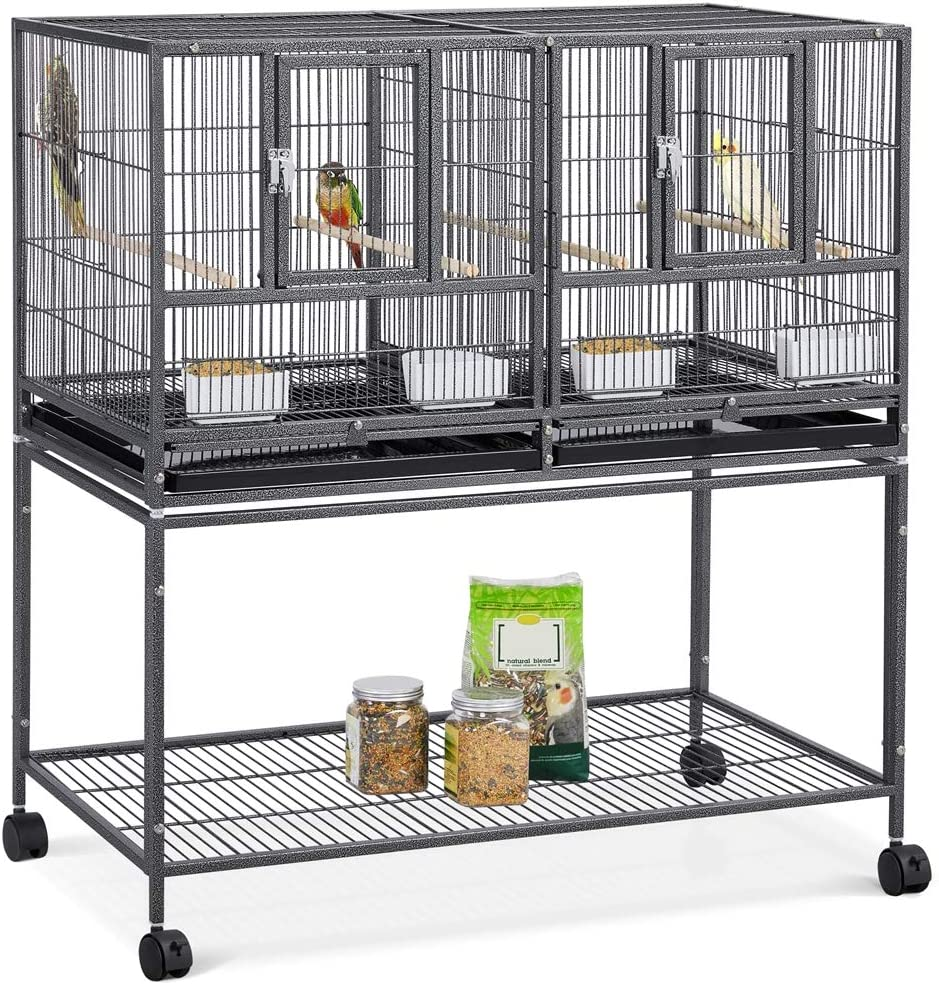 Yaheetech Stackable Divided Breeder Cage Parakeet Max 50% OFF 2021 new Breeding Bird