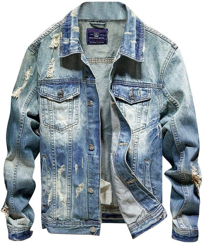 Pantalon De Survetement Homme PLENTYTOP Veste en Jean Homme Jeans Skinny en Jean /à La Mode en Jean /éLastique