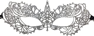 Ladies Grey Lace Fifty Shades of Grey Venetian Masquerade Mask