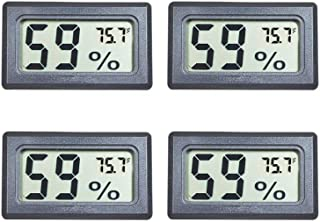 Best Veanic 4-Pack Mini Digital Electronic Temperature Humidity Meters Gauge Indoor Thermometer Hygrometer LCD Display Fahrenheit (℉) for Humidors, Greenhouse, Garden, Cellar, Fridge, Closet Reviews
