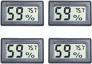 Veanic 4-Pack Mini Digital Electronic Meter رطوبت سنج دماسنج داخلی سنج سنج هیدرومتر ال سی دی نمایش Fahrenheit (℉) برای Humidors، گلخانه، باغ، یخچال، یخچال، یخچال