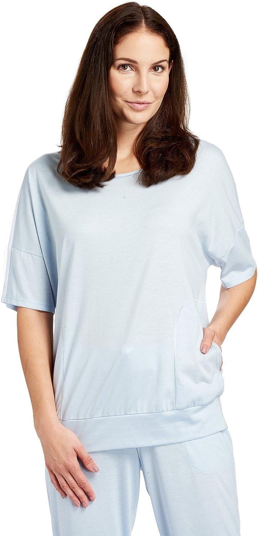 Rosch 118315511726 Women's Denim bluee Solid Colour Pajama Pyjama Top